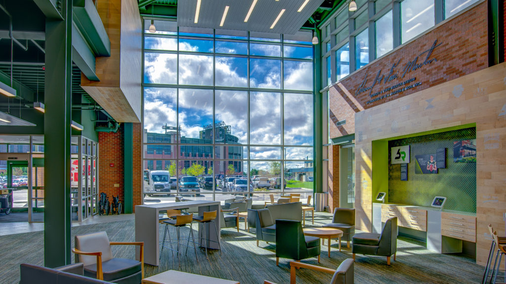 Lobby at Bellin Health at Titletown